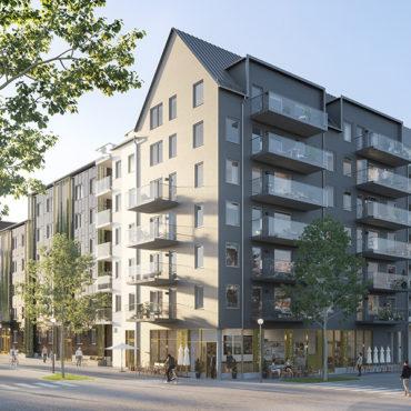 JM bygger bostäder i kvarteret Ryttarstugan i Täby Park