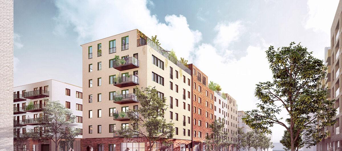 Skanska bygger hyresrätter i kvarteret Opalen i Täby Park