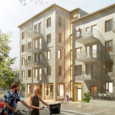 JM bygger bostäder i kvarteret Manegen i Täby Park