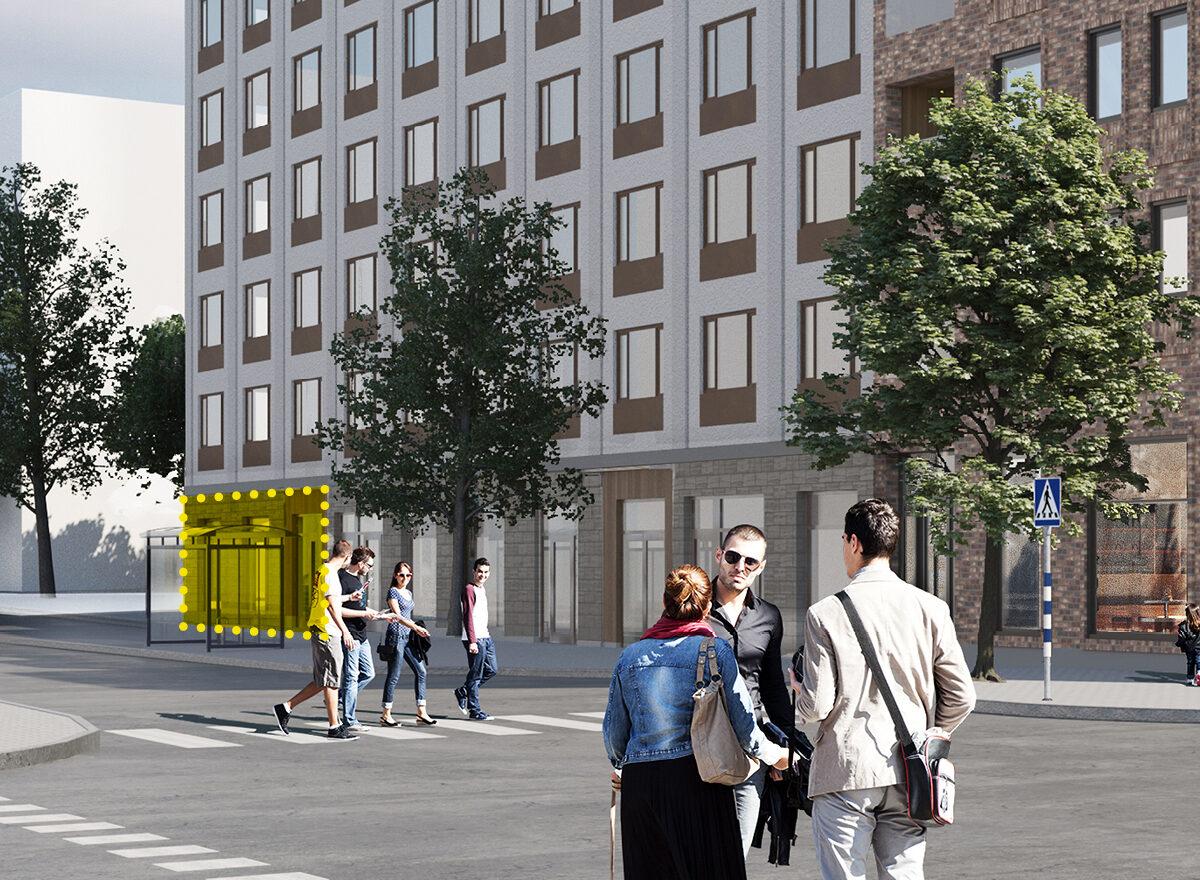 Öppna salong i kvarteret Klövern i Täby Park