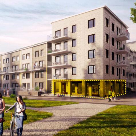 Öppna cykelaffär i kvarteret Manegen i Täby Park