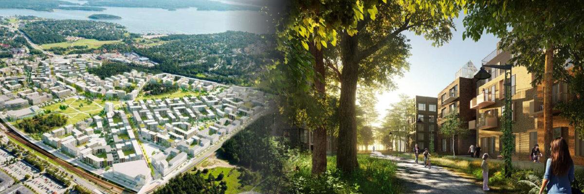 Täby Park en ny stadsdel mitt i Täby
