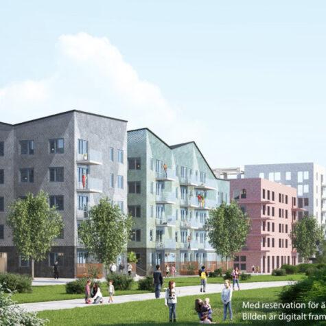 Viktor Hanson bygger bostäder kvarteret Stratos i Täby Park