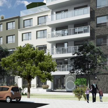 Einar Mattsson bygger bostäder kvarteret Månstenen i Täby Park
