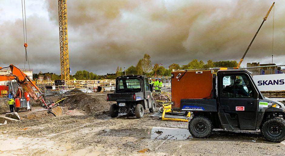 Elbilar för hållbar utveckling i Täby Park
