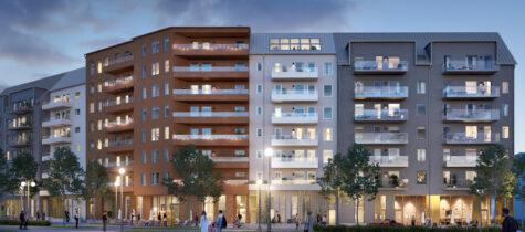 Byggstart för kvarteret Ryttarstugan i Täby Park