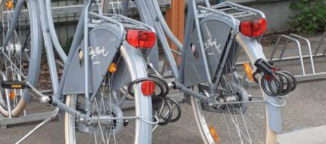 Låna cykel i Täby Park