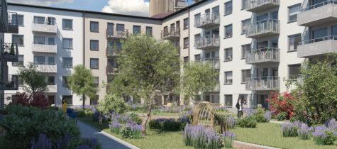 Kvarteret Scilla som byggs av Nya Hem från Skanska börjar byggas i november