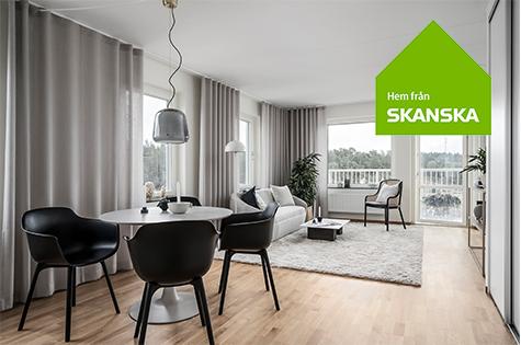 Besök Skanskas visningshem för nyproducerade bostäder i Täby Park