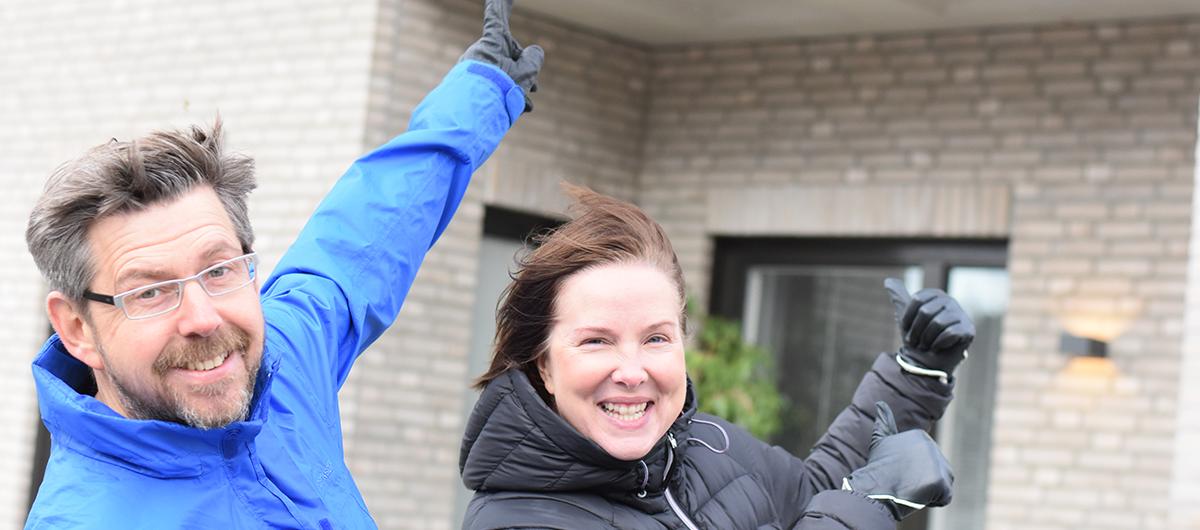 Jörgen och Susanna Engvall gillar sin hyresrätt i Manegen, Täby Park