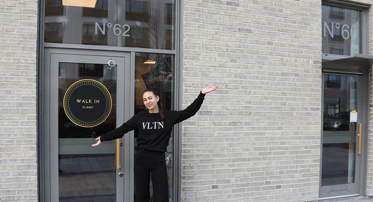 walk in closet vintagebutik på boulevarden 62 i Täby Park