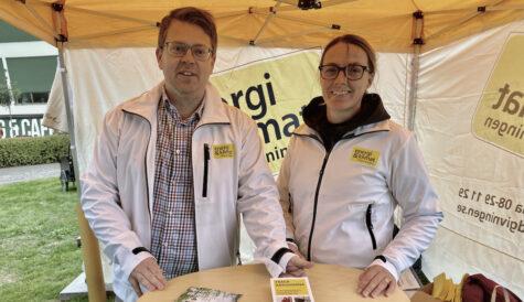 Anna och Anders, energi- och klimatrådgivare i Täby.